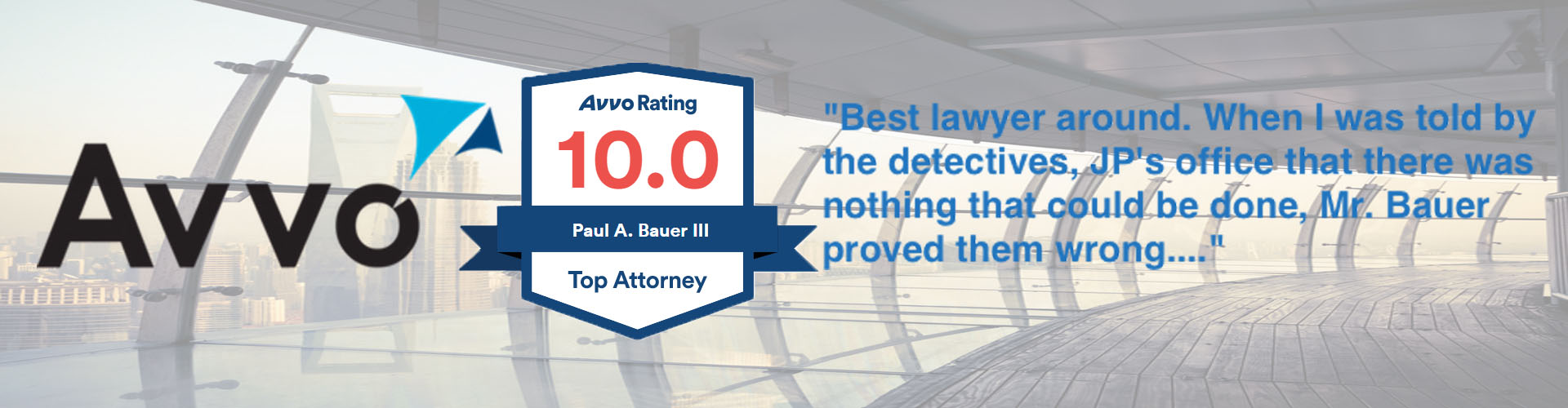 Paul Bauer Avvo Rating 10